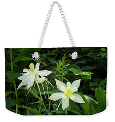 White Columbines Weekender Tote Bag