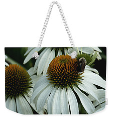 White Coneflowers  Weekender Tote Bag