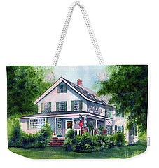 White Country Farmhouse Weekender Tote Bag