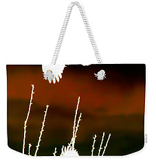 White Crow And The Bluejay Weekender Tote Bag