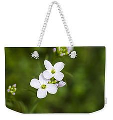 White Cuckoo Flowers Weekender Tote Bag