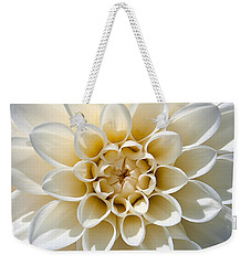 White Dahlia Weekender Tote Bag by Carsten Reisinger