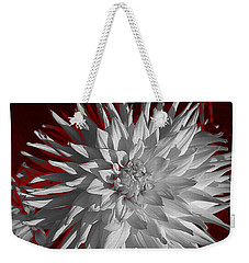 White Dahlia Weekender Tote Bag by Richard Farrington