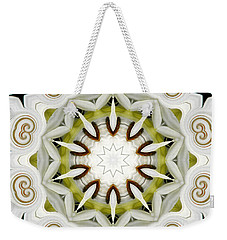 Weekender Tote Bag featuring the photograph White Daisies Kaleidoscope by Rose Santuci-Sofranko