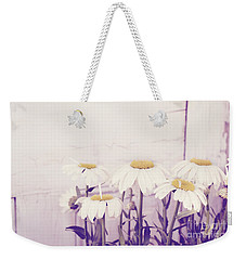 White Daisy Mums Weekender Tote Bag by Cindy Garber Iverson
