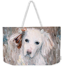 White Dog # 2 Weekender Tote Bag
