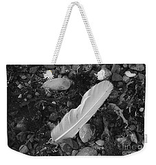 White Feather Weekender Tote Bag by Randi Grace Nilsberg