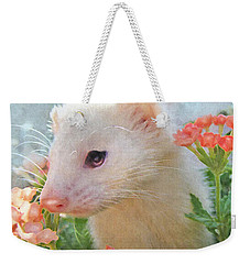 White Ferret Weekender Tote Bag by Jane Schnetlage