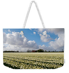White Field Weekender Tote Bag