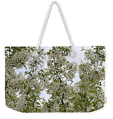 White Flowers On Branches Weekender Tote Bag