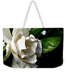 Weekender Tote Bag featuring the photograph White Gardenia by Rose Santuci-Sofranko