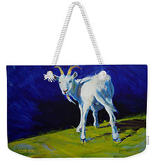 White Goat Painting Weekender Tote Bag