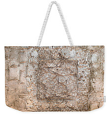 White Gold Mixed Media Triptych Part 2 Weekender Tote Bag