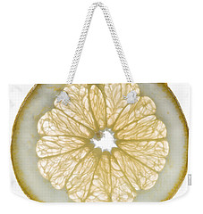 White Grapefruit Slice Weekender Tote Bag by Steve Gadomski