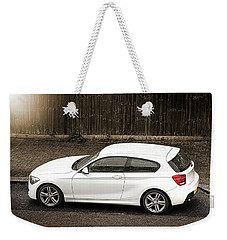 White Hatchback Car Weekender Tote Bag