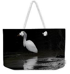White Heron Weekender Tote Bag by Angela DeFrias