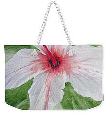 White Hibiscus Flower Weekender Tote Bag