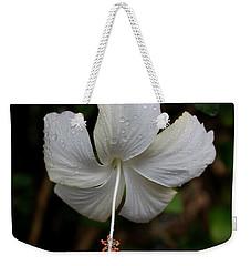 White Hibiscus Weekender Tote Bag by Pamela Walton