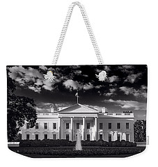 White House Sunrise B W Weekender Tote Bag