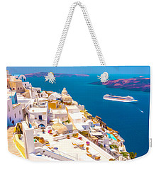 White Houses Of Santorini Weekender Tote Bag
