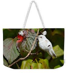 White Hummingbird Weekender Tote Bag