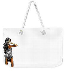 Weekender Tote Bag featuring the digital art White by J Anthony