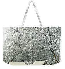 White Lace Weekender Tote Bag