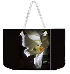 White Lily Weekender Tote Bag by Kay Novy