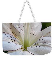 White Lily Weekender Tote Bag