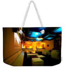 White Lounge Weekender Tote Bag by Melinda Ledsome