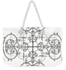White Maltese Cross Weekender Tote Bag by Suzanne Powers