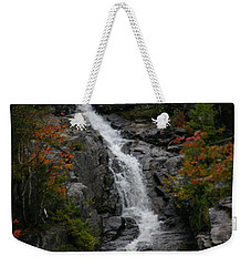 Weekender Tote Bag featuring the photograph White Mountain Water Fall  by Denyse Duhaime