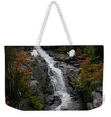 White Mountain Water Fall  Weekender Tote Bag by Denyse Duhaime