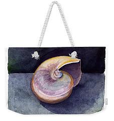 White Nautilus Weekender Tote Bag