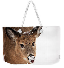 White On The Nose Weekender Tote Bag by Karol Livote