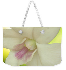 White Orchid Weekender Tote Bag by Greg Allore