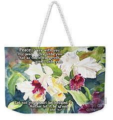 White Orchid John 14 Weekender Tote Bag