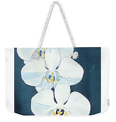 White Orchids Weekender Tote Bag by C Sitton
