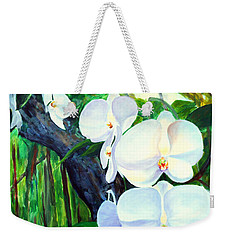 White Orchid's Weekender Tote Bag