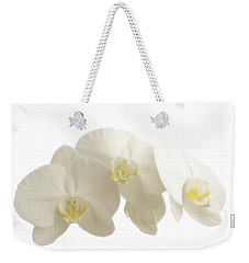 White Orchids On White Weekender Tote Bag