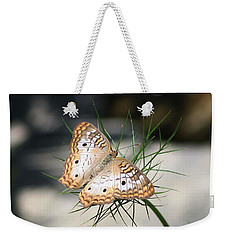 White Peacock Weekender Tote Bag by Karen Silvestri