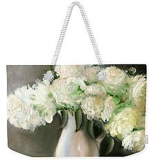 White Peonies Weekender Tote Bag