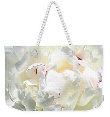 White Peony Weekender Tote Bag by Will Borden