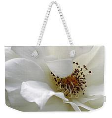 White Petals Weekender Tote Bag