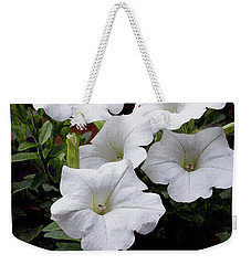 White Petunia Blooms Weekender Tote Bag