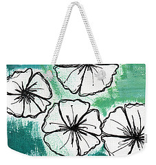 White Petunias- Floral Abstract Painting Weekender Tote Bag