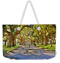 Weekender Tote Bag featuring the photograph White Point Gardens At Battery Park Charleston Sc Hdr by Lisa Wooten