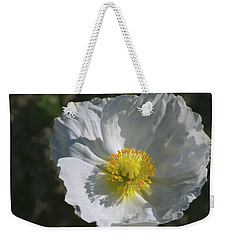 White Poppy Weekender Tote Bag by Rima Biswas