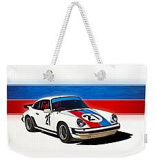 White Porsche 911 Weekender Tote Bag