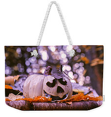Weekender Tote Bag featuring the photograph White Pumpkin by Aaron Aldrich